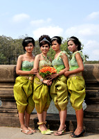Bridal party, Siem Reap, Cambodia