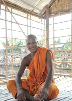 Monk in a Monastery in Siem Reap, Cambodia