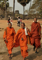 Monks enjoying a visit to Angkor Wat, Siem Reap, Cambodia