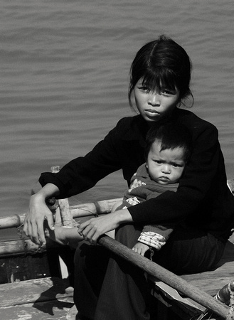 Woman and child, Ha Long, Vietnam