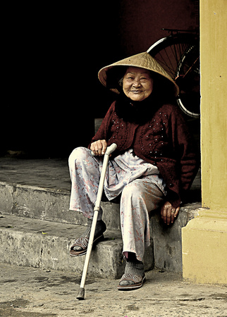 Elderly woman, Hoi An, Vietnam