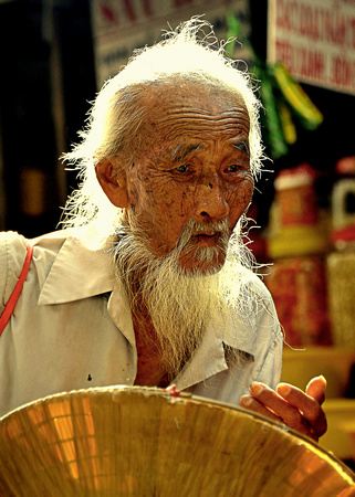 Old man in the market, Chau Doc, Vietnam